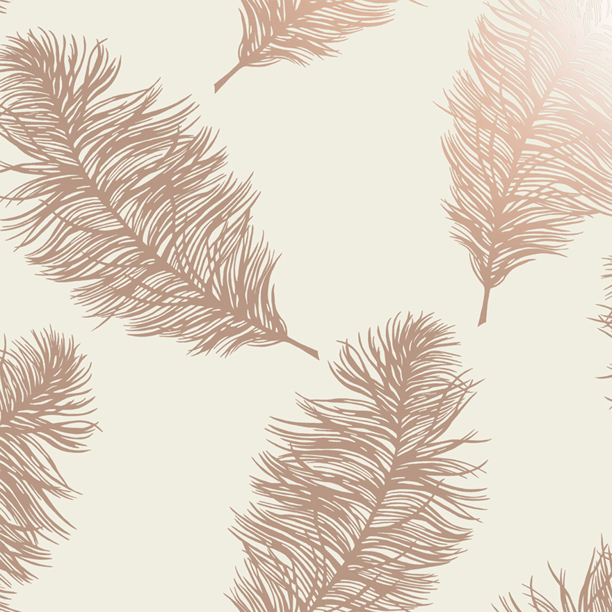12627 Fawning Feather Cream Rose Gold shiny Product