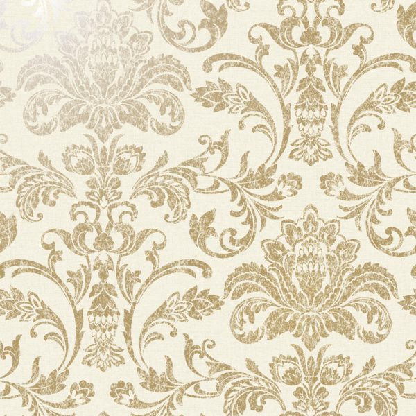 12711 Glistening Damask Gold:Cream Product