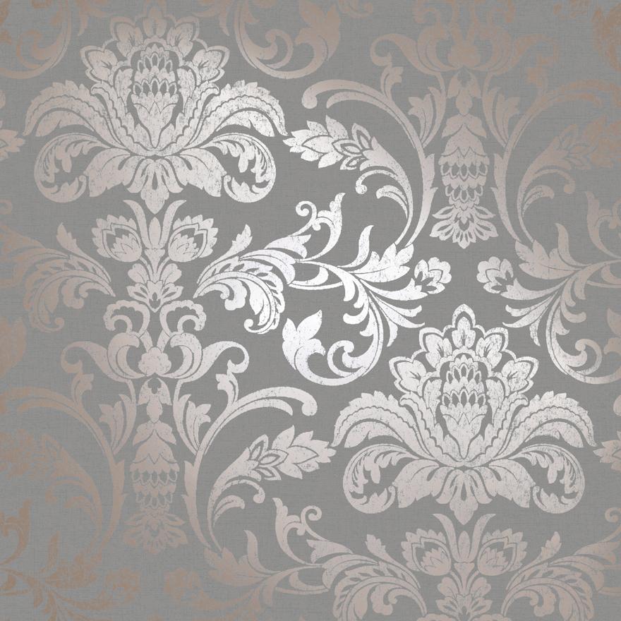 12712 Glistening Damask Rosegold:Grey Product