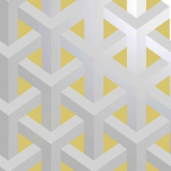 12811 Glistening Trident Geo Grey-Yellow shine Product