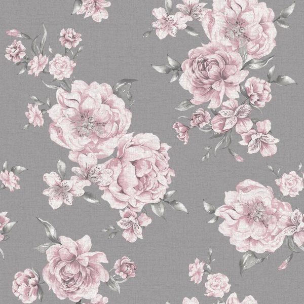 12830 Peony Floral Pink_Dark Grey