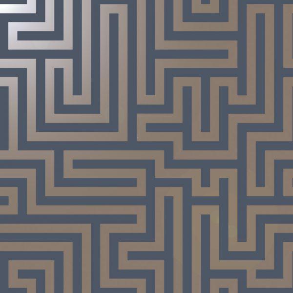12913 Glistening Maze Navy shiny