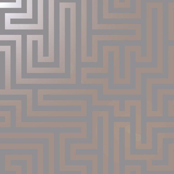 12914 Glistening Maze Grey Rose Gold new shine