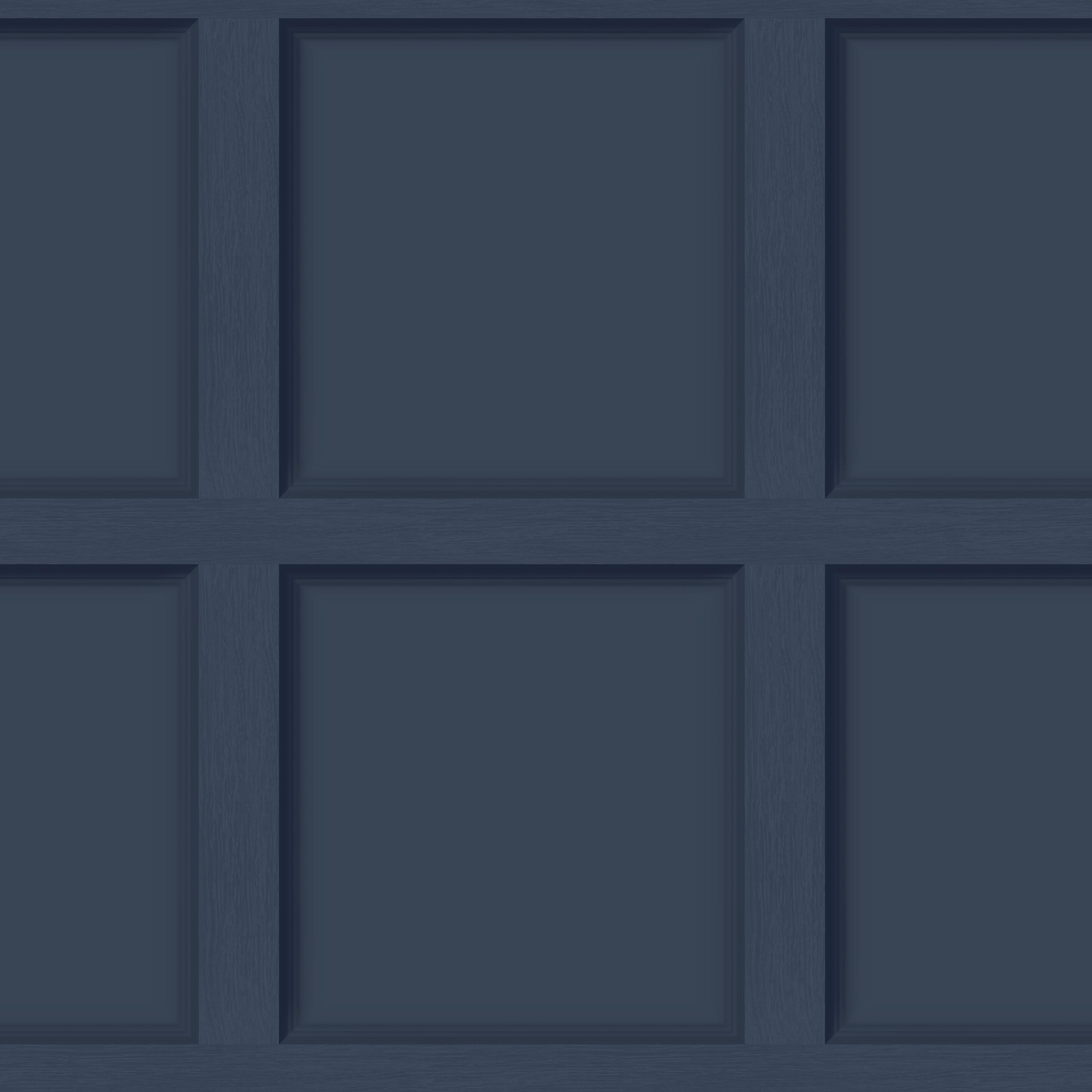 12980 Modern Wood Panel Navy Blue Product