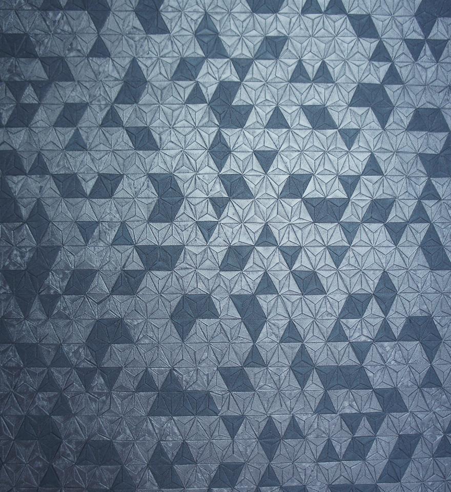 35982 Origami Texture Navy Shine