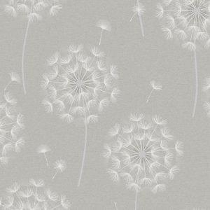 Allora Taupe Shimmer Dandelion Flower Wallpaper by Holden Opus 36004
