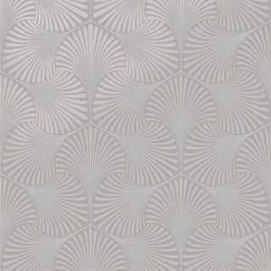 Opus Varano Light Taupe Art Deco Wallpaper Heavy Vinyl by Holden 36011