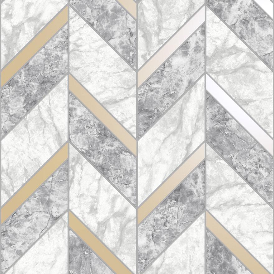 89340 Carrara Tile Grey_Gold