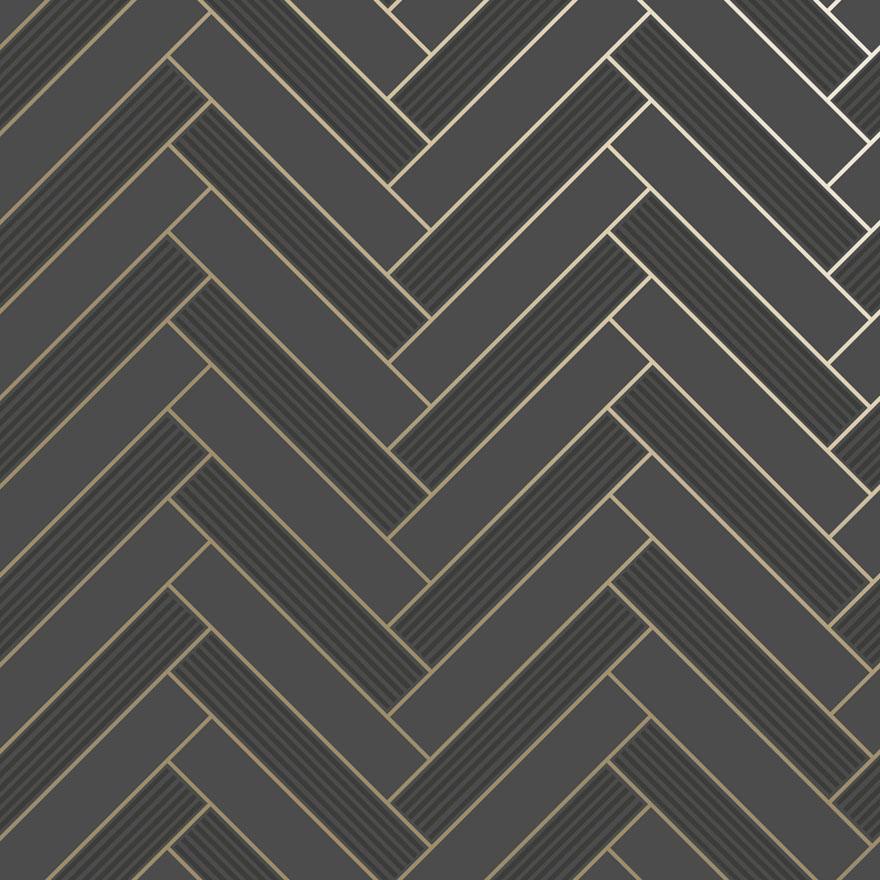 89372 Cerros Tile Black_Gold shiny Product