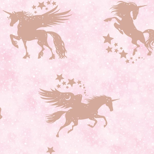 Iridescent Unicorns Pink Rosegold Holden Decor