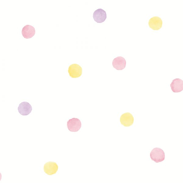 91000 Watercolour Dots Pink Yellow
