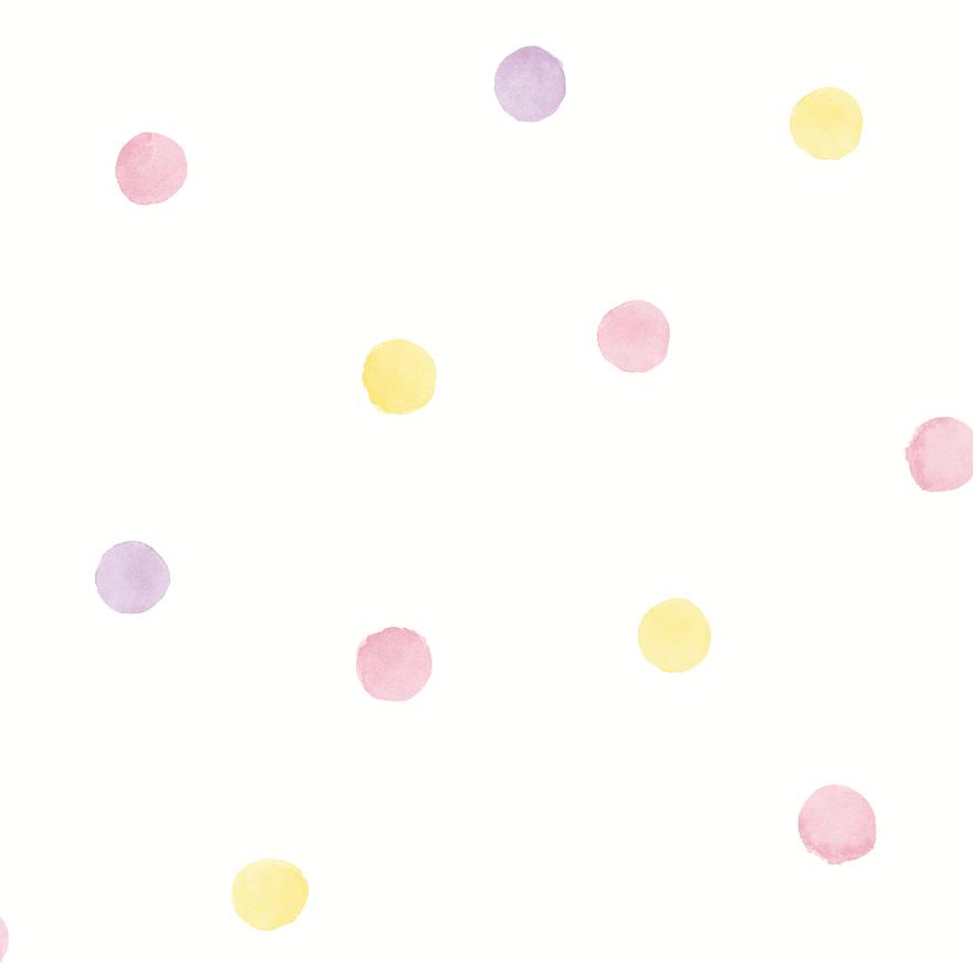 91000 Watercolour Dots Pink Yellow