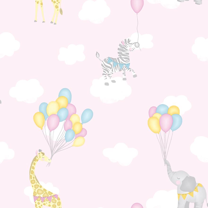 91040 Animal Balloons pink