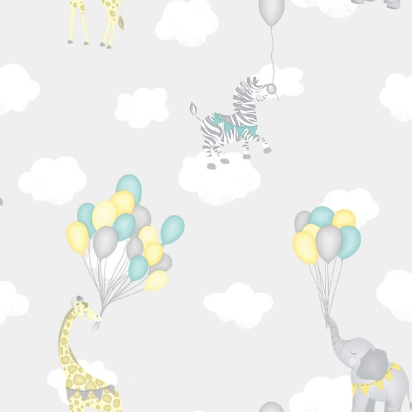 91041 Animal Balloons grey